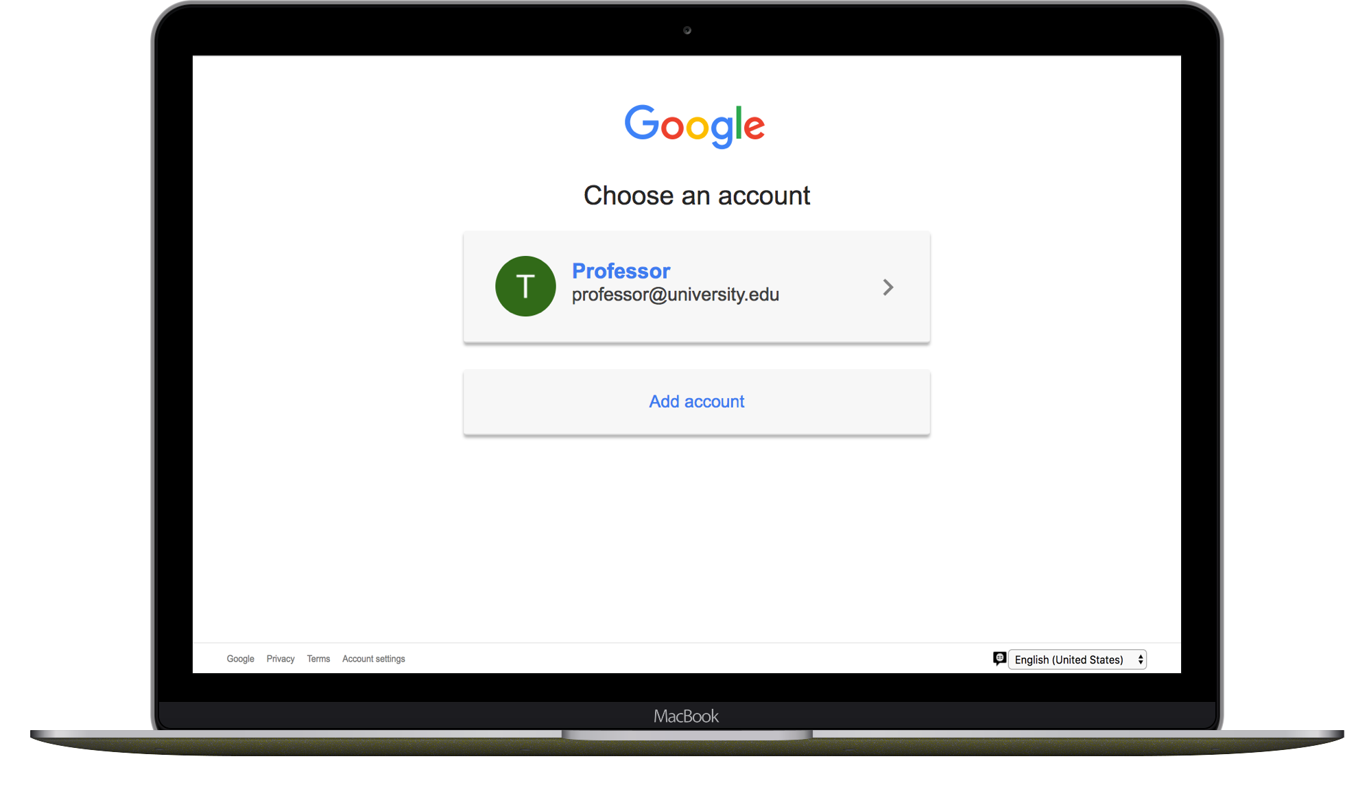 Login with your Gmail Account